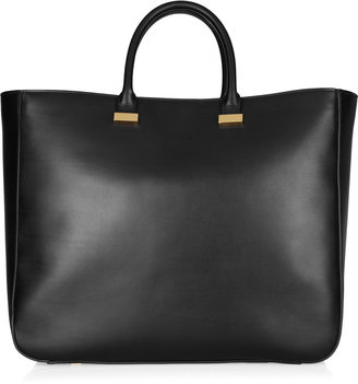 The Row XL Day Luxe leather tote