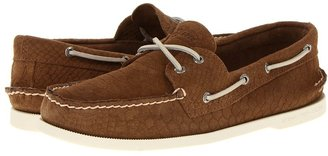 Sperry A/O 2-Eye Python Emboss (Tan) - Footwear