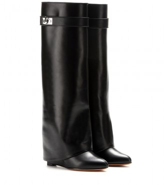 Givenchy Pant leather wedge boots