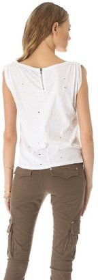 Alice + Olivia AIR by Gathered Shoulder Tee