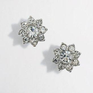 J.Crew Factory Factory crystal flower stud earrings
