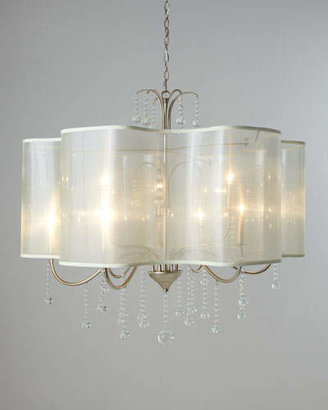 John-Richard Collection Quatrefoil 9-Light Shaded Chandelier