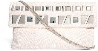 River Island Beige Embellished Foldover Clutch Bag