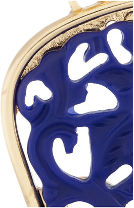 Kenneth Jay Lane Gold-plated lapis clip earrings