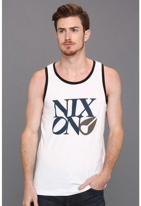Nixon Philly Too Tank (White/Military Green) - Apparel