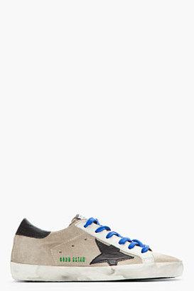 Golden Goose Blue & Navy Suede Superstar Sneakers