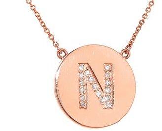 Jennifer Meyer Diamond Letter Necklace - N - Rose Gold