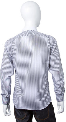 Simon Spurr Stripe Shirt with Contrast Back in Black/White - by Spurr