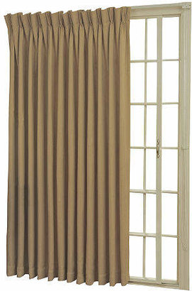 Eclipse Back-Tab/Pinch-Pleat Thermal Blackout Patio Door Curtain Panel