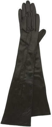 Nordstrom Faux LaceUp Long Leather Gloves