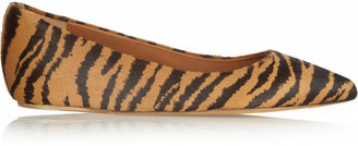 Mulberry Tiger-print calf hair ballet flats