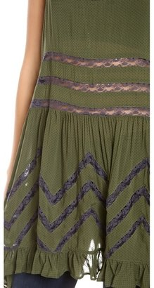 Free People Slip Voile Trapeze Top