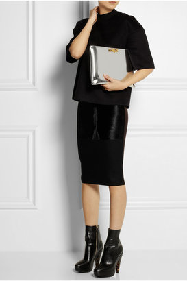 Marni Mirrored-leather clutch