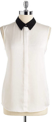 Vince Camuto Sleeveless Button Down Blouse