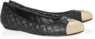 Tory Burch Kaitlin quilted-leather and metal ballet flats
