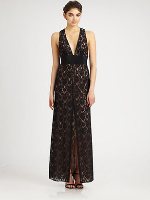 BCBGMAXAZRIA Lace Gown