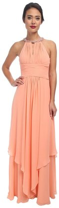 Donna Morgan Siena Beaded Halter Long Gown $250 thestylecure.com
