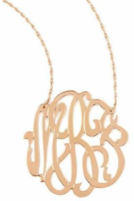 Jennifer Zeuner Jewelry Rose Gold Initial Necklace