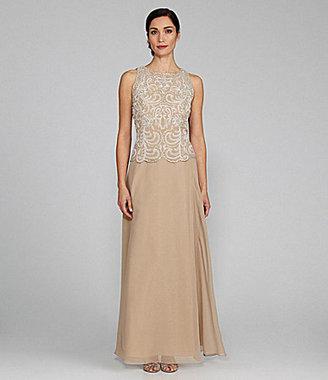J Kara Sleeveless Beaded Gown