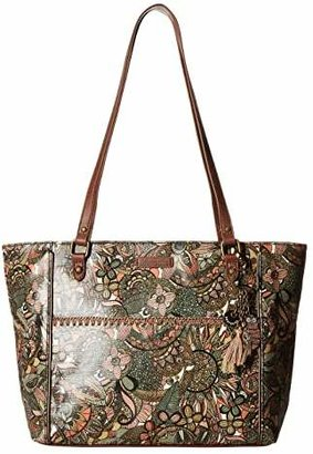 Sakroots Artist Circle Medium Embellished Satchel (Sienna Spirit Desert) Tote Handbags