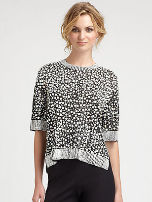 By Malene Birger Embellished Sequin Top