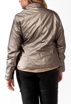 Forever 21 FOREVER 21+ Paneled Metallic Jacket