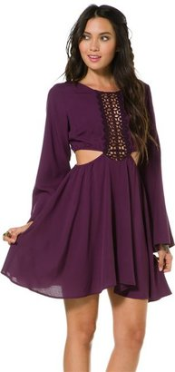 Swell Sugar Crochet Detail Plum Dress