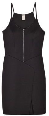 Ali Ro Pique Bodycon Dress with Zipper Detail