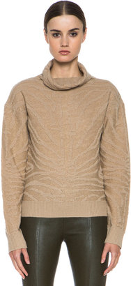 Carven Angora Turtleneck Sweater in Camel