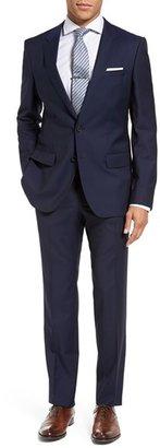 BOSS Huge/Genius Trim Fit Navy Wool Suit $795 thestylecure.com