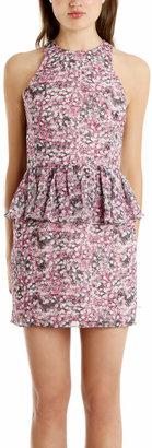 Charlotte Ronson Floral Peplum Dress