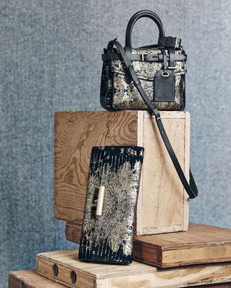 Reed Krakoff Boxer Micro Shoulder Bag, Black/Gold