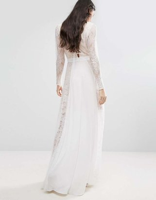 Fame And Partners Tall Laced Heaven Maxi Dress With Split