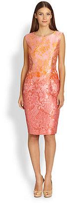 Max Mara Morris Floral Jacquard Dress