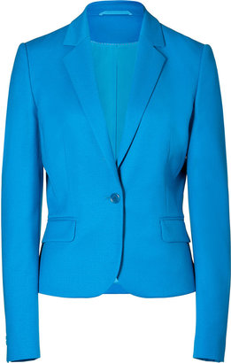 HUGO Turquoise/Aqua Wool Stretch Afiraly One Button Jacket