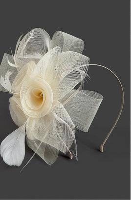 Bebe Rosebud & Feather Headband