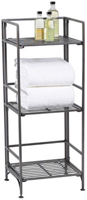 Container Store 3-Shelf Iron Folding Bookcase Pewter