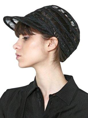 Y-3 Striped Net Hat
