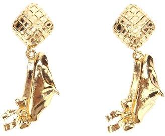 Chanel bow clip on earrings