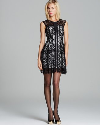 Nanette Lepore Dress - Misbehavin' Lace and Woven Drive Me Crazy