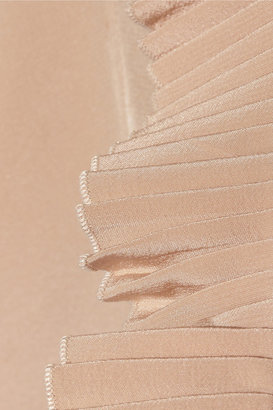 Miu Miu Lace-insert silk crepe de chine dress