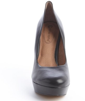 Corso Como black leather platform 'Hollen' pumps