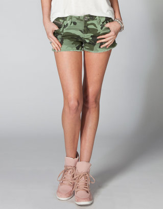 YMI Jeanswear Camo Womend Cutoff Denim Shorts