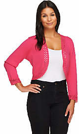 Liz Claiborne New York Crochet Trim 3/4 Sleeve Shrug $25.63 thestylecure.com
