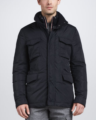 Moncler Hector Field Jacket, Navy