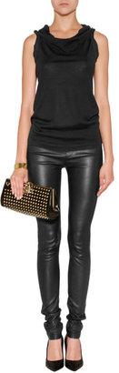 Donna Karan Cashmere-Wool-Silk Top in Black