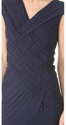 Donna Karan Banded Gown