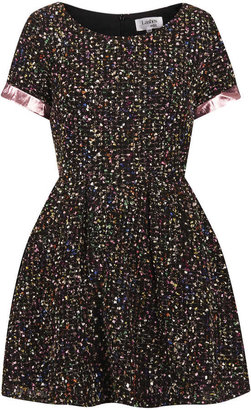 Topshop **Boucle Skater Dress by Lashes Edit