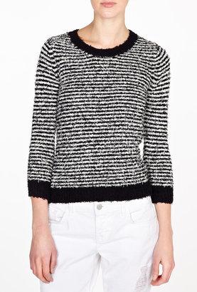 DKNY Textured Cotton Striped Jumper
