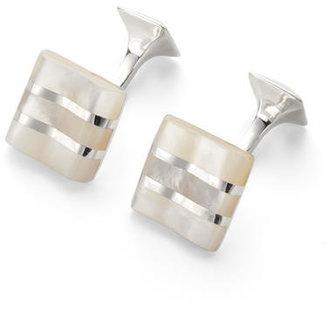 Aspinal of London Wave Sterling Silver Cufflinks